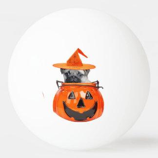 Halloween pug dog ping pong ball