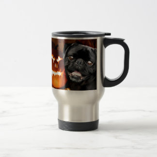 Halloween Pug Dog Stainless Steel Travel Mug