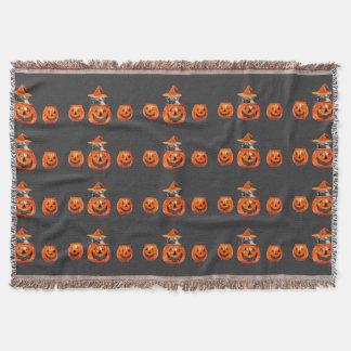 Halloween pug dog throw blanket