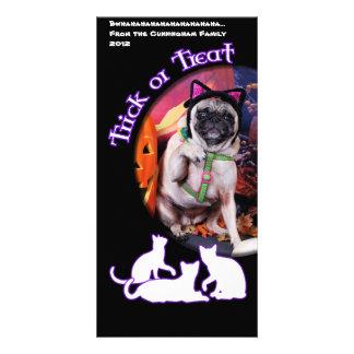 Halloween - Pug - Lily Lou Photo Greeting Card