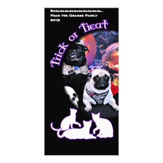Halloween - Pug - Ruffy and Lola Picture Card