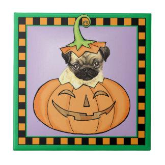 Halloween Pug Tile