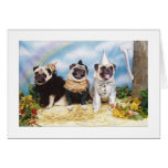 Halloween Pugs Lion Scarecrow Tinman Greeting Cards