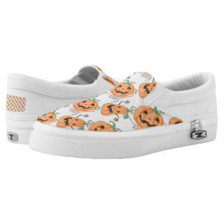 Halloween Pumkins Slip On Shoes