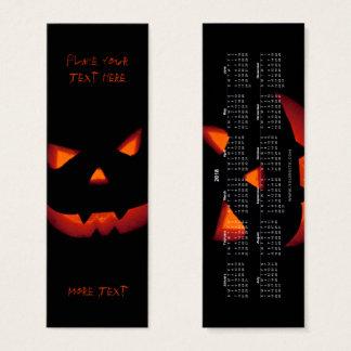 Halloween Pumpkin 001 Bookmark 2018 Mini Business Card