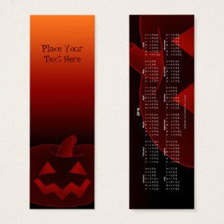 Halloween Pumpkin 002 Bookmark 2018 Mini Business Card