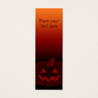 Halloween Pumpkin 002 - Bookmark Mini Business Card