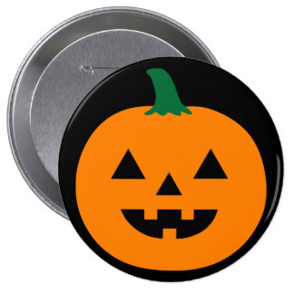 Halloween Pumpkin 10 Cm Round Badge