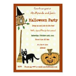 Halloween Pumpkin 13 Cm X 18 Cm Invitation Card