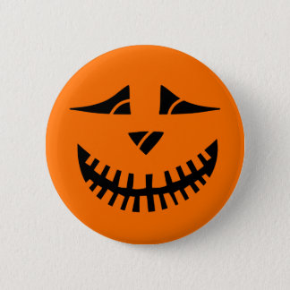 Halloween Pumpkin 6 Cm Round Badge