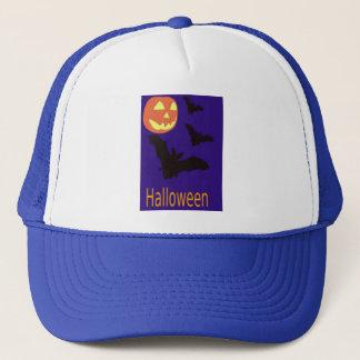 Halloween Pumpkin and Bats Trucker Hat