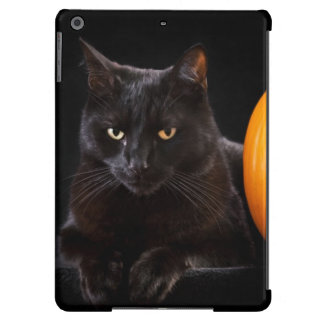 Halloween pumpkin and black cat cover for iPad air