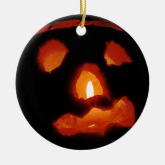 Halloween pumpkin and candle christmas ornament
