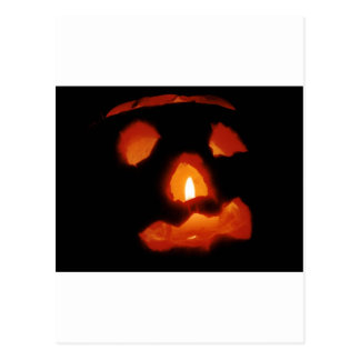 Halloween pumpkin and candle postcard