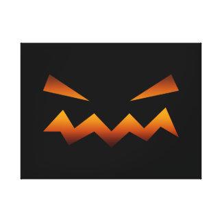 Halloween pumpkin angry face canvas prints