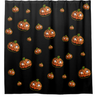 Halloween Pumpkin Art Shower Curtain