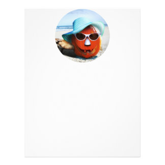Halloween Pumpkin At The Beach Personalized Flyer