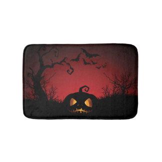Halloween Pumpkin Background Bath Mat