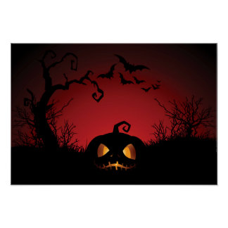 Halloween Pumpkin Background Print