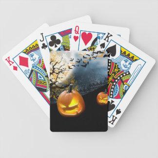Halloween Pumpkin Bicycle Playing Cards