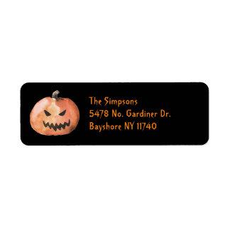 Halloween Pumpkin Black Address Labels