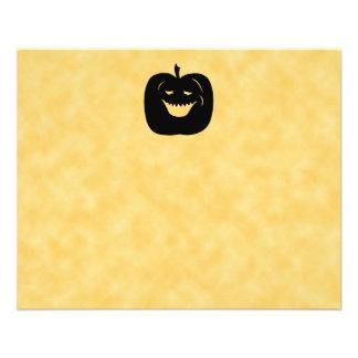 Halloween Pumpkin, Black and Orange. 11.5 Cm X 14 Cm Flyer