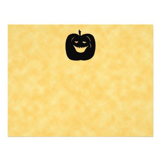 Halloween Pumpkin, Black and Orange. Personalized Flyer