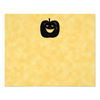 Halloween Pumpkin, Black and Orange. Flyer