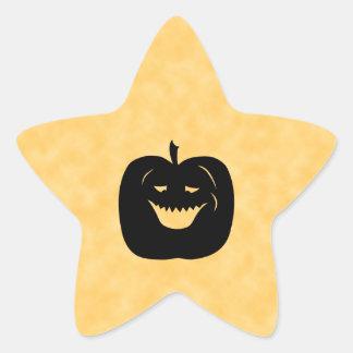 Halloween Pumpkin Black and Orange Star Stickers