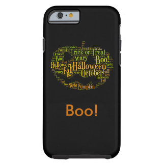 Halloween Pumpkin Boo! Personalize Tough iPhone 6 Case