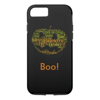 Halloween Pumpkin Boo! Personalize iPhone 7 Case