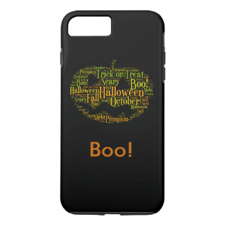 Halloween Pumpkin Boo! Personalized Text iPhone 7 Plus Case