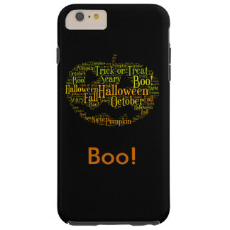 Halloween Pumpkin Boo! Personalized Text Tough iPhone 6 Plus Case