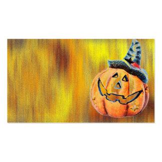 Halloween Pumpkin Pack Of Standard Business Cards