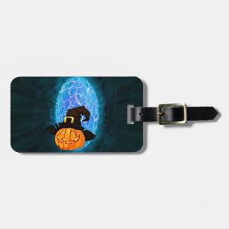 Halloween pumpkin by moonlight luggage tag