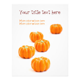 Halloween pumpkin candy 21.5 cm x 28 cm flyer