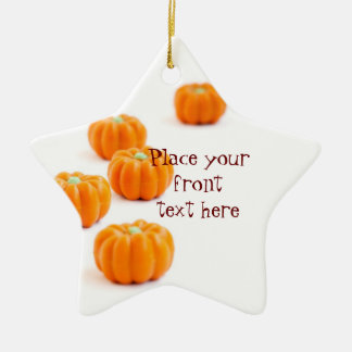 Halloween pumpkin candy ceramic star decoration
