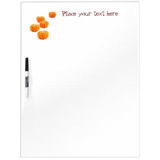 Halloween pumpkin candy dry erase board