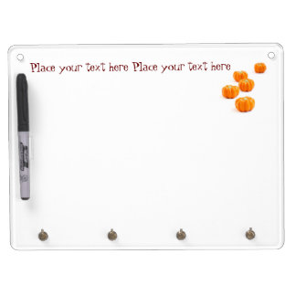 Halloween pumpkin candy dry erase board with key ring holder