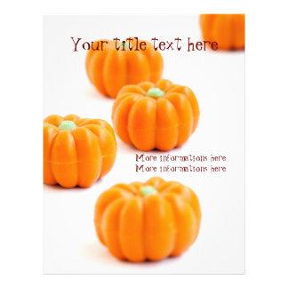 Halloween pumpkin candy flyer
