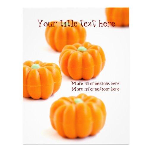 Halloween pumpkin candy flyer design