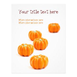 Halloween pumpkin candy full color flyer