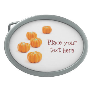 Halloween pumpkin candy oval belt buckle