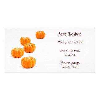 Halloween pumpkin candy picture card