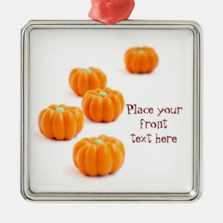 Halloween pumpkin candy Silver-Colored square decoration