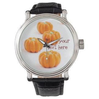 Halloween pumpkin candy watch