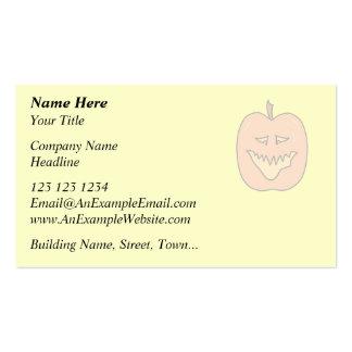 Halloween Pumpkin Cartoon. Pale Colors Business Card