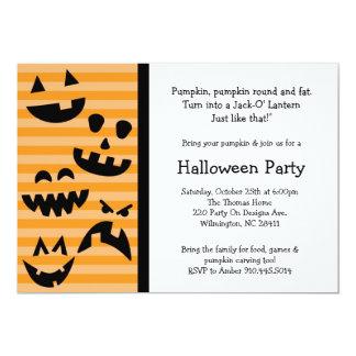 Halloween Pumpkin Carving costume family invite