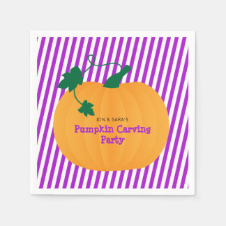 Halloween Pumpkin Carving Party Paper Serviettes