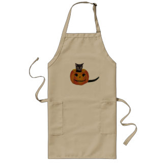 Halloween Pumpkin Cat Apron